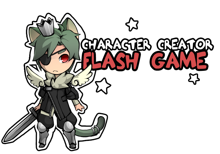 Png avatar maker. Character creator flash game