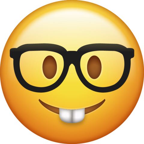 Nerd emoticon png. Emoji transparent background