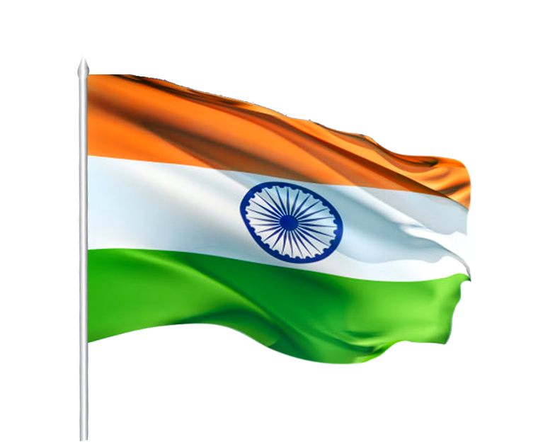 india transparent tiranga colour