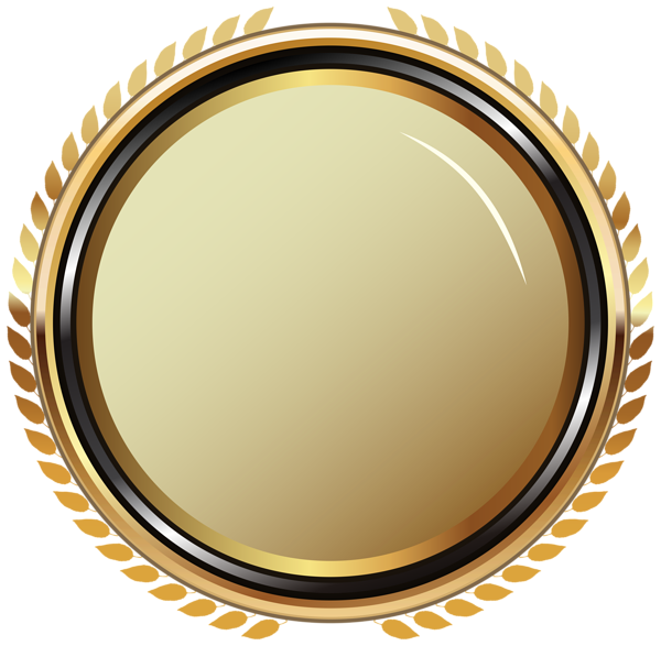 Gold oval frame png. Badge transparent clip art