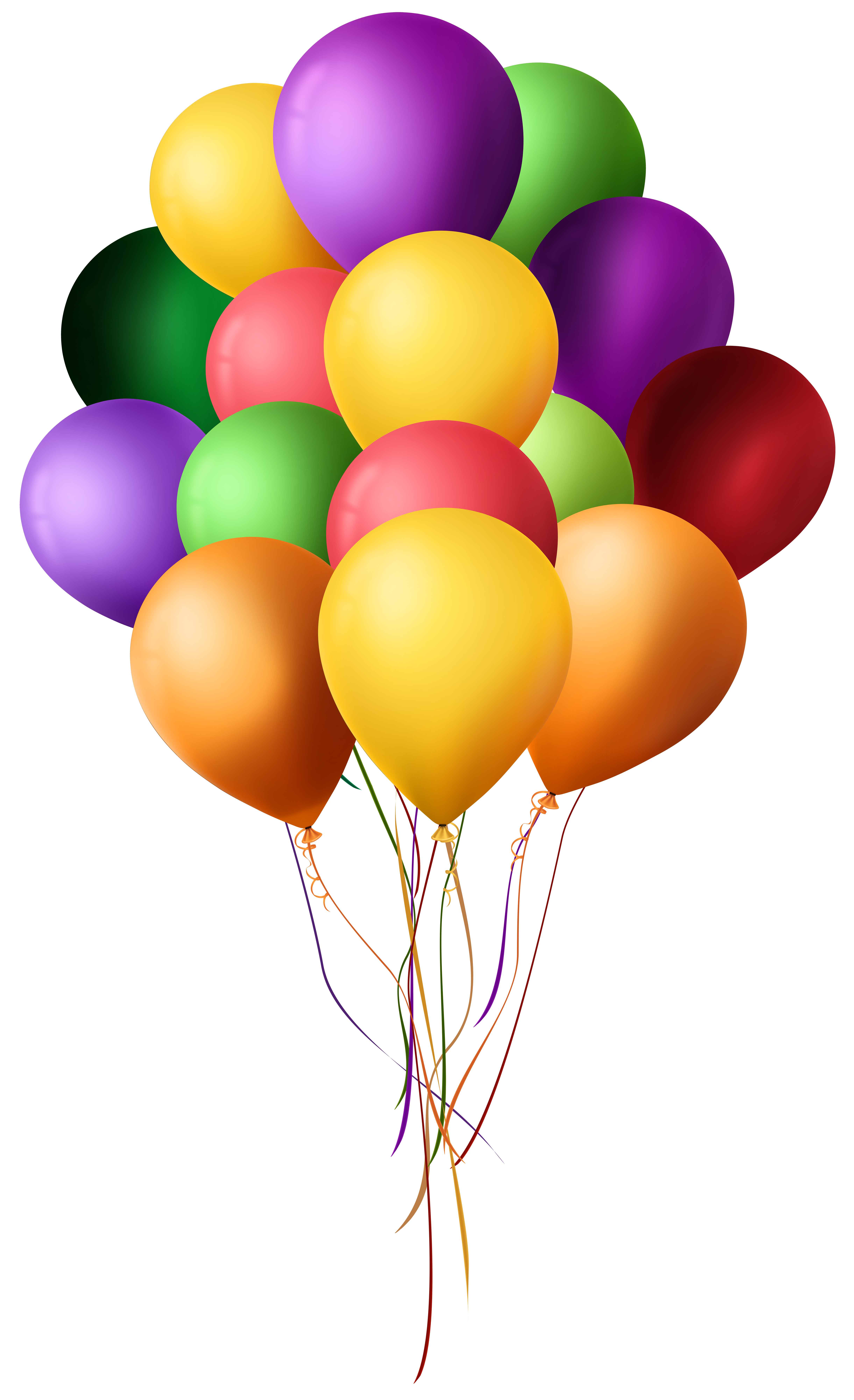 Balloon clipart png. Bunch of balloons clip