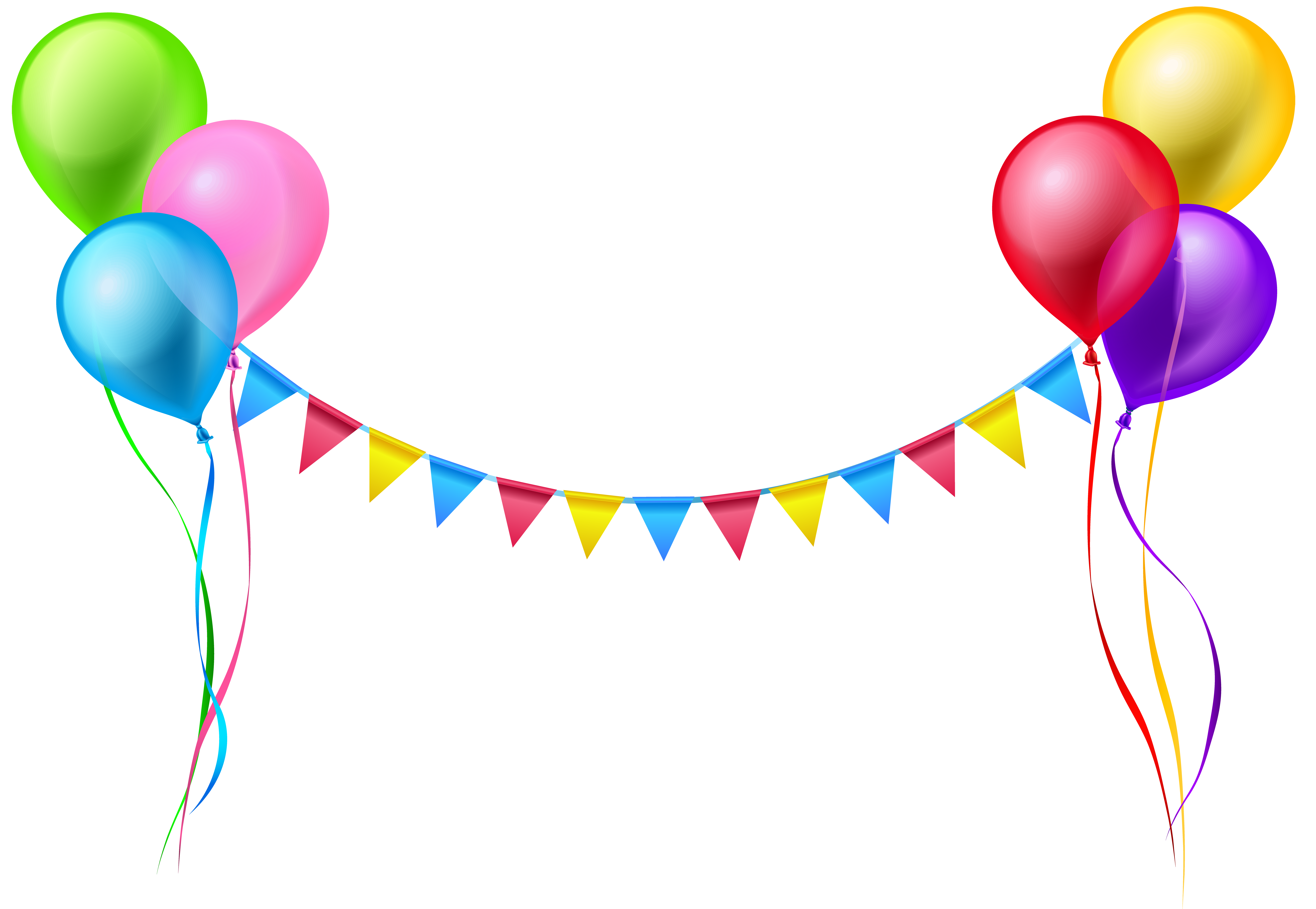Balloons png. Streamer and clip art