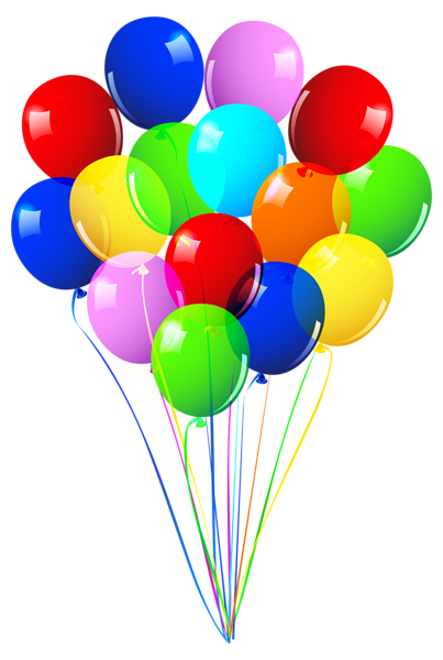 Happy birthday balloon png. Bunch of balloons image