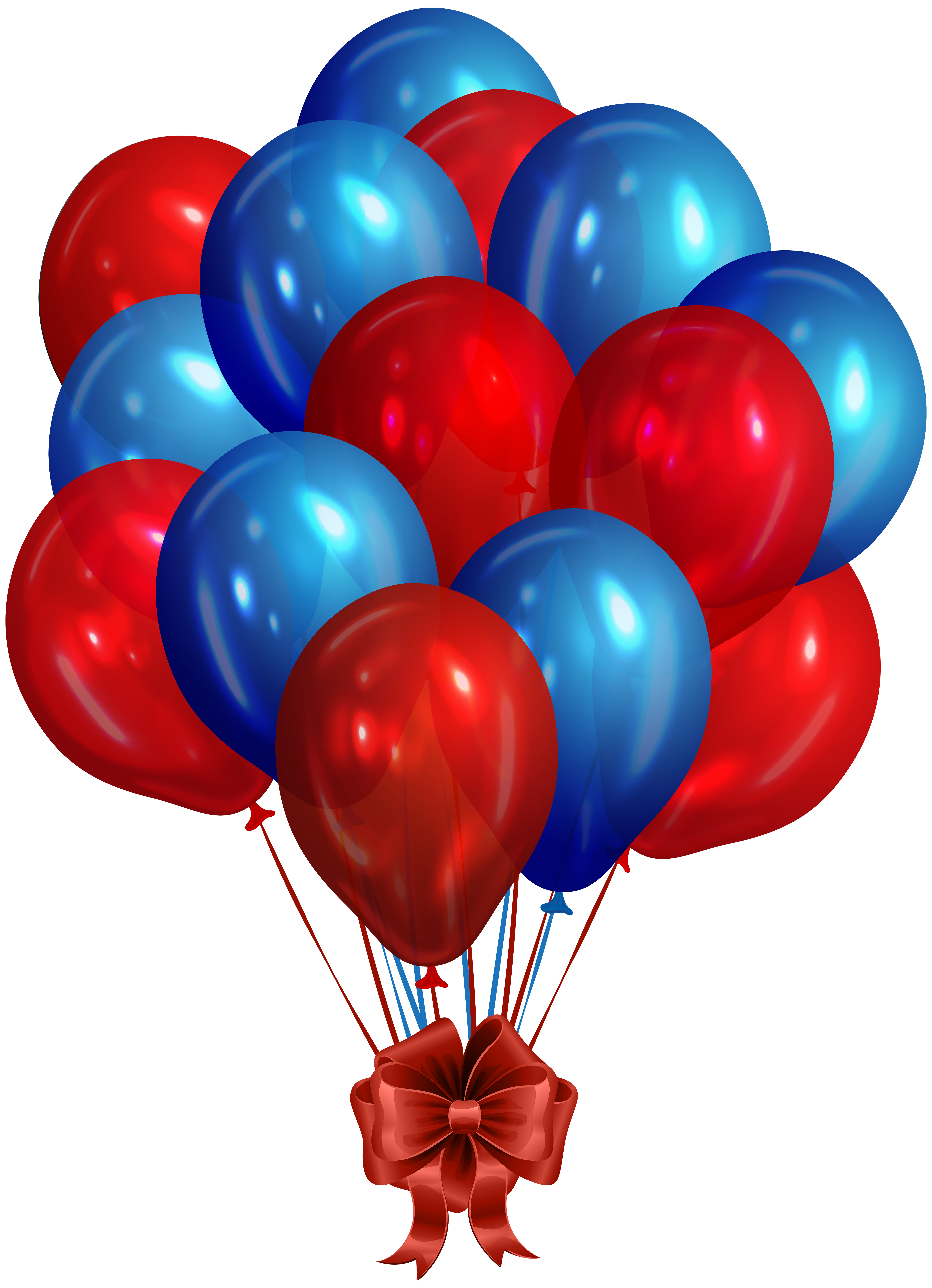 Png balloons. Blue red bunch of