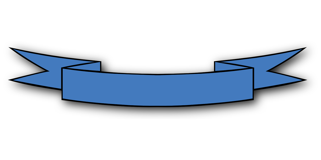 Png banner ribbon. Blue bow winner image