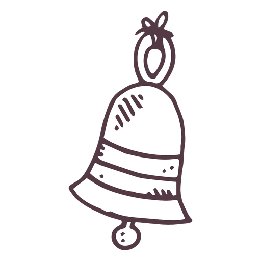Png bell. Hand drawn icon transparent