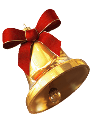 School bell png no background. Gold christmas transparent image