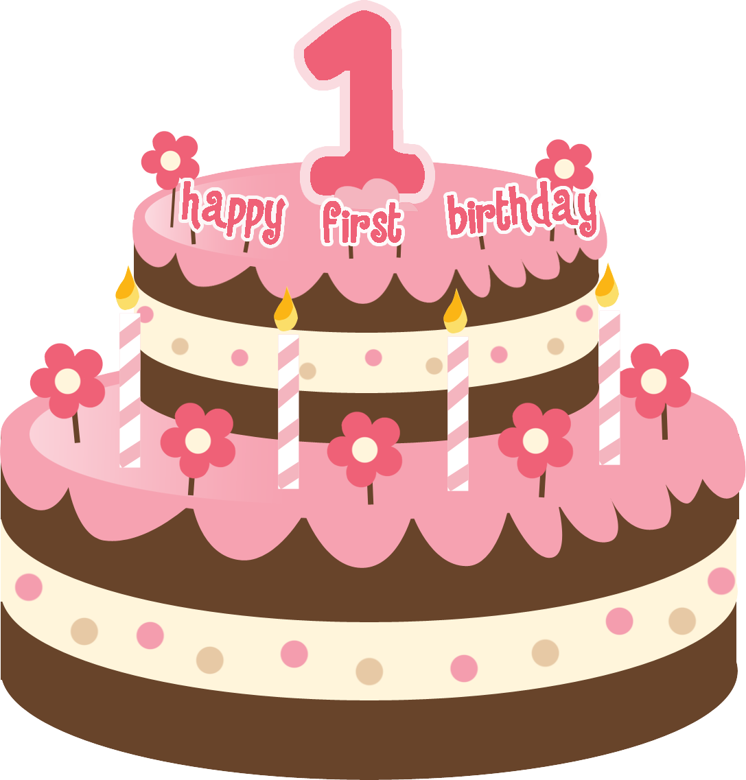 One vector png birthday. Cake clipart mart