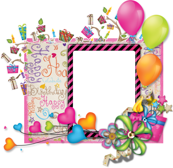 Png birthday frames. Picture frame for scrape