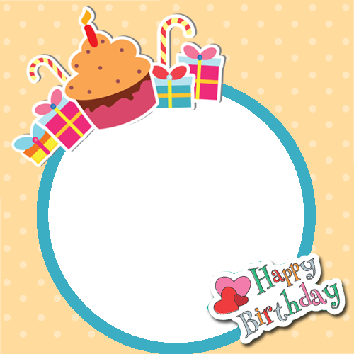 Png birthday frames. Happy frame with cup