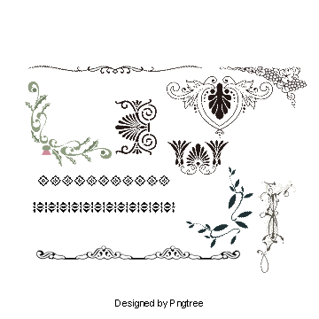 Border patterns png. Graphic design vectors and