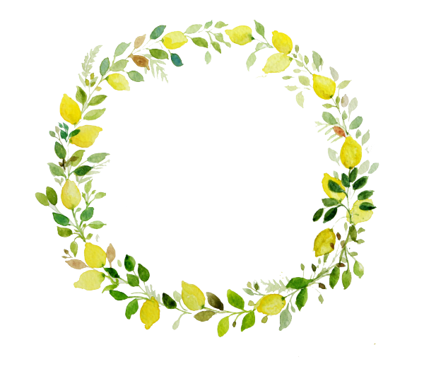 tropical leaves wreath png