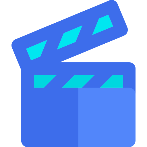 Png blue movie video. Cinema film interface filming