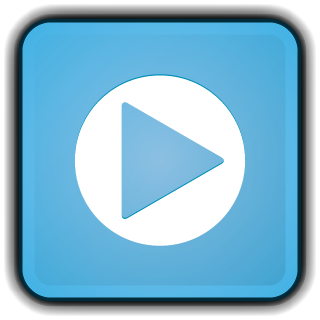 Png blue movie video. File icon rounded square