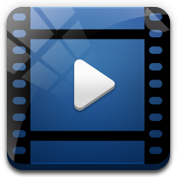 Png blue movie video. File icon ampola icons