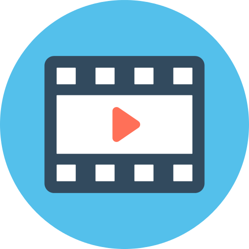 Png blue movie video. Player icon repo free