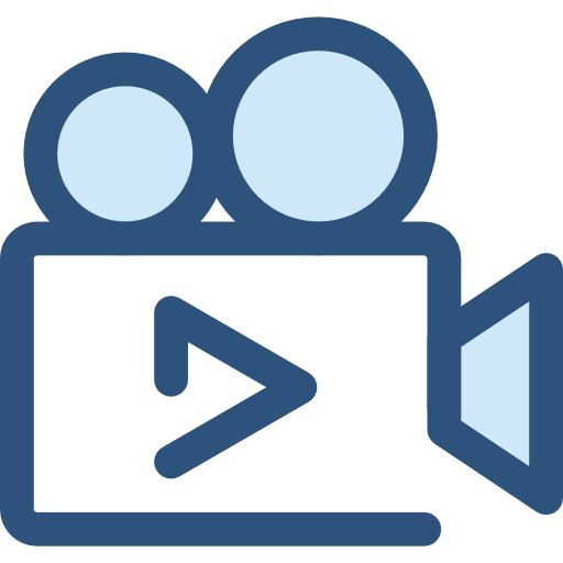 Png blue movie video. Flat icon page svg
