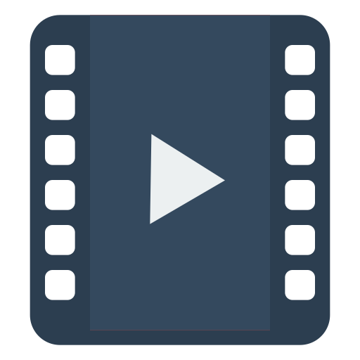 Png blue movie video. Icon myiconfinder media player