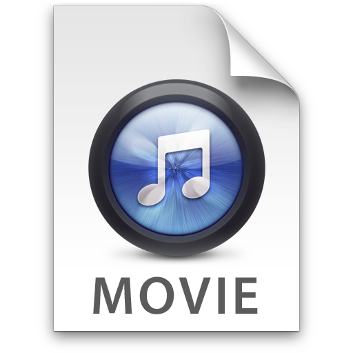 Blue movies in png. Itunes movie icon filetype