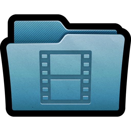 Png blue movies. Mac folder icon clipart
