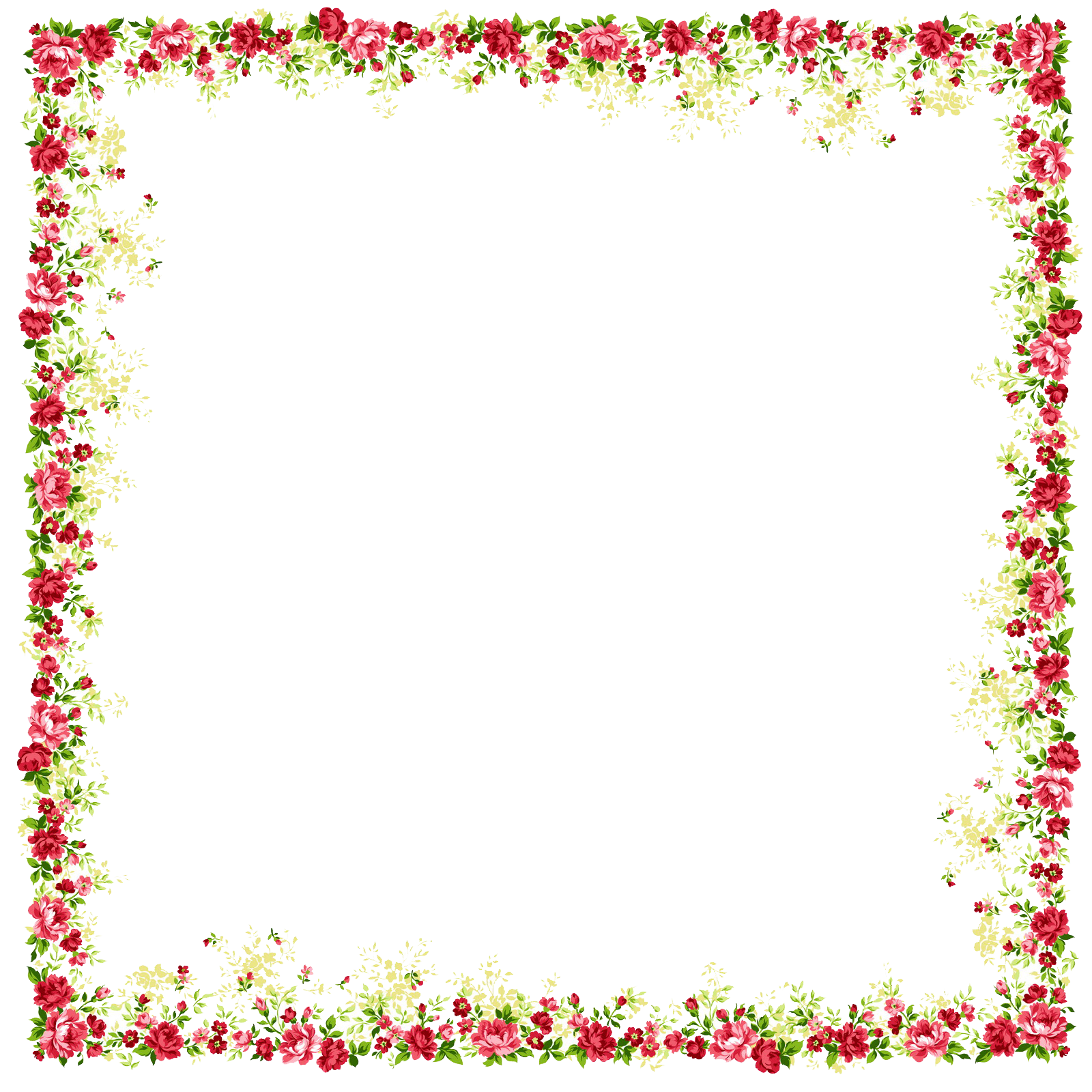 Png borders and frames. Picture frame flower clip