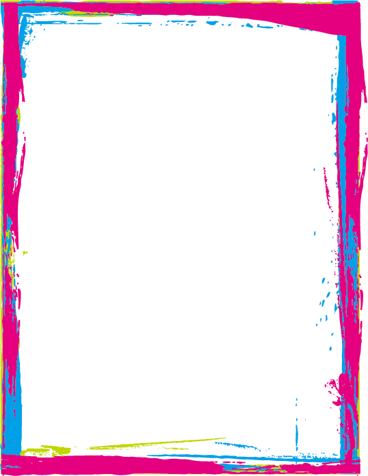 Colorful frames and borders png. Download paint x