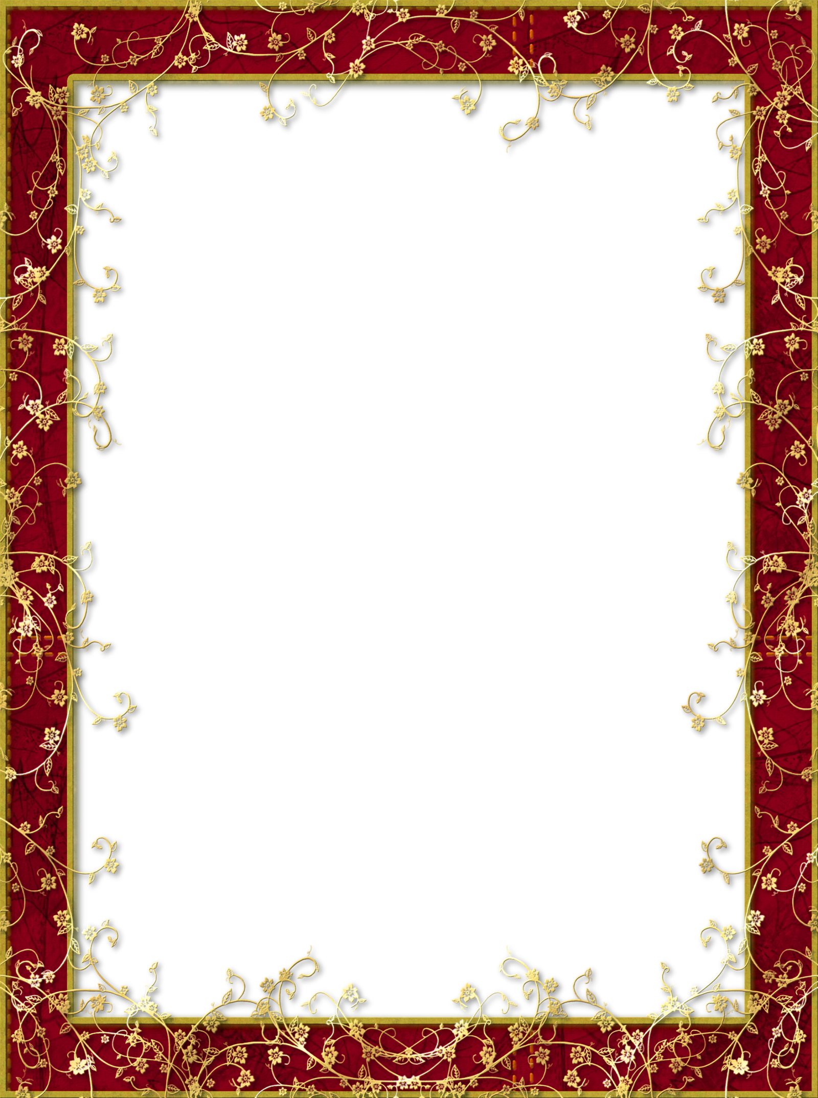 Free frames png. Red transparent frame with