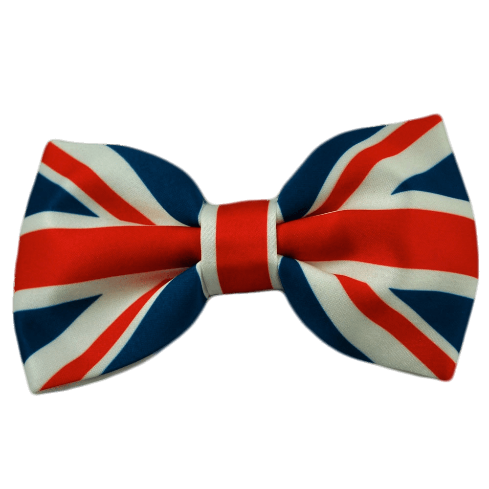 Png bow tie. Union jack transparent stickpng