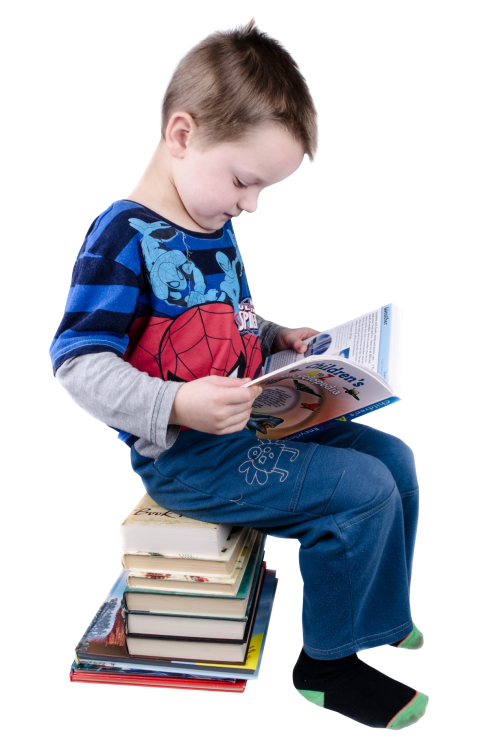Child sitting png. Boy reading books image