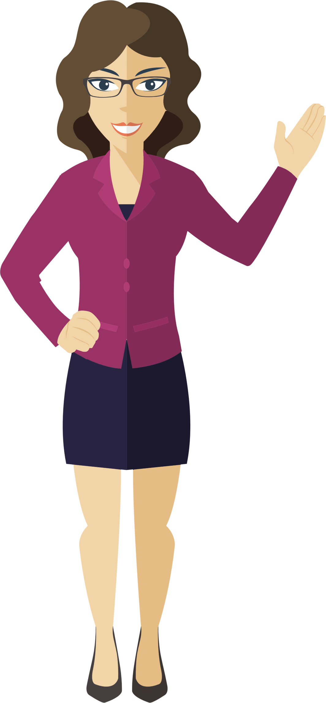 Png business woman. Flat shaded icons free