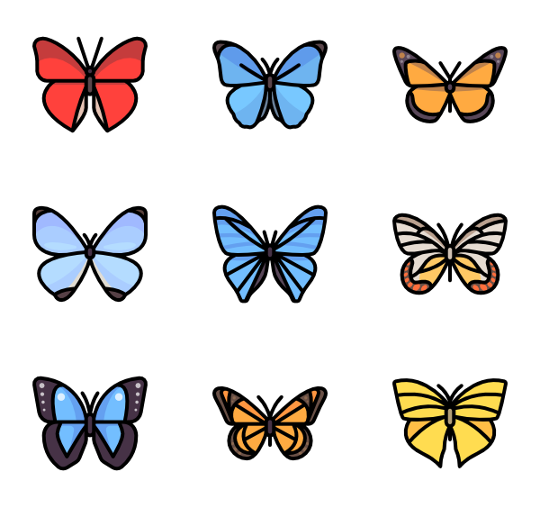 ai vector butterfly background