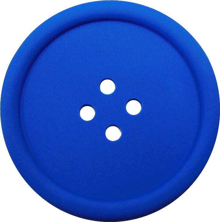 Png buttons. Blue sewing button with