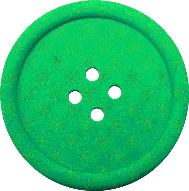 Png buttons images. Greeen sewing button with