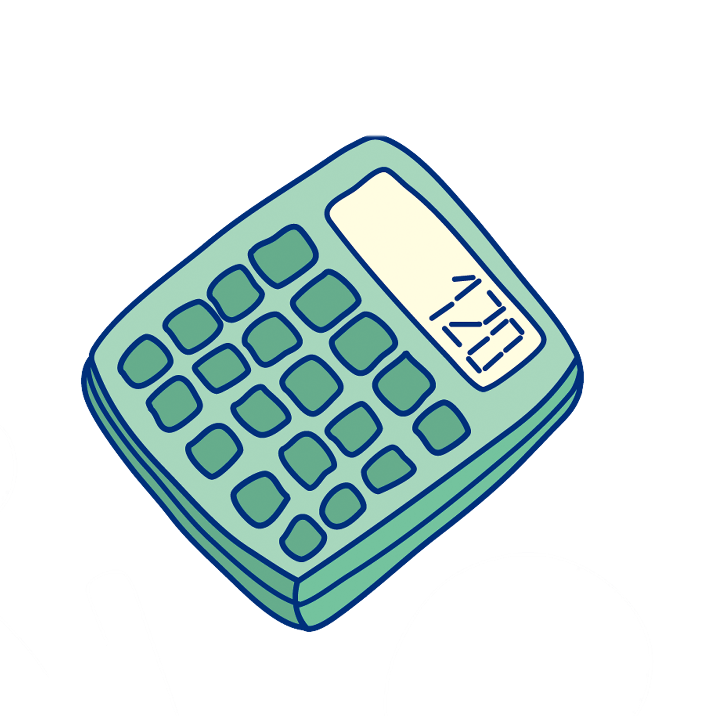 Png calculator. Cartoon illustration transprent free