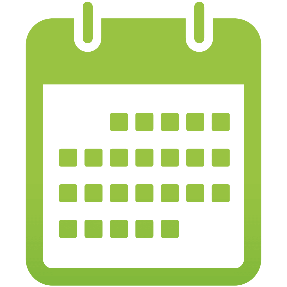 Png calendar. Green icon holy family
