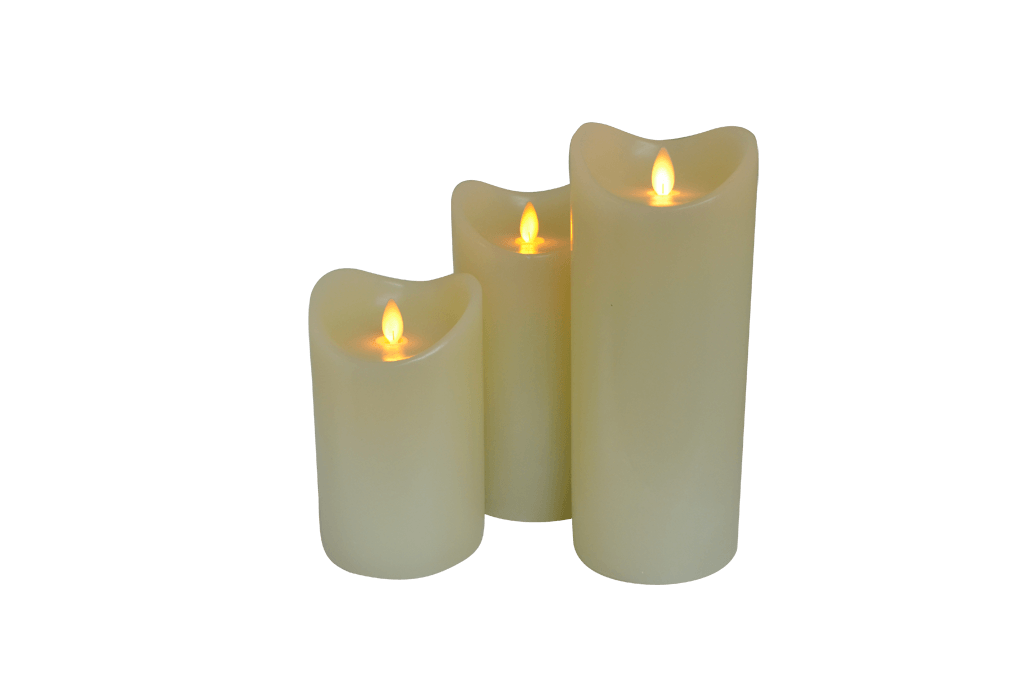 Png candles. Realistic flameless wax candle
