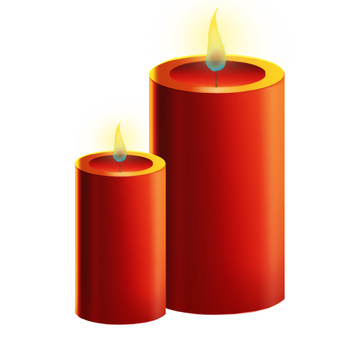 Png candles 3d. Icon christmas set softicons