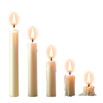 Png candles. Shuttlecock wax party candle