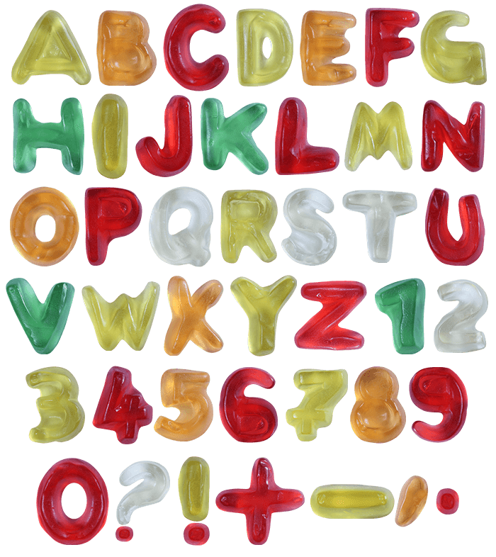 Png candy alphabet. Browse and buy haribo