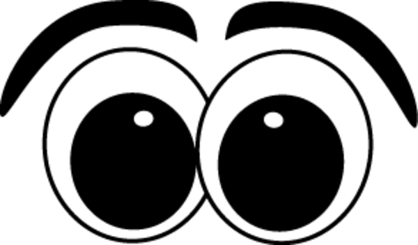 Eye clip wide. Big cartoon eyes clipart