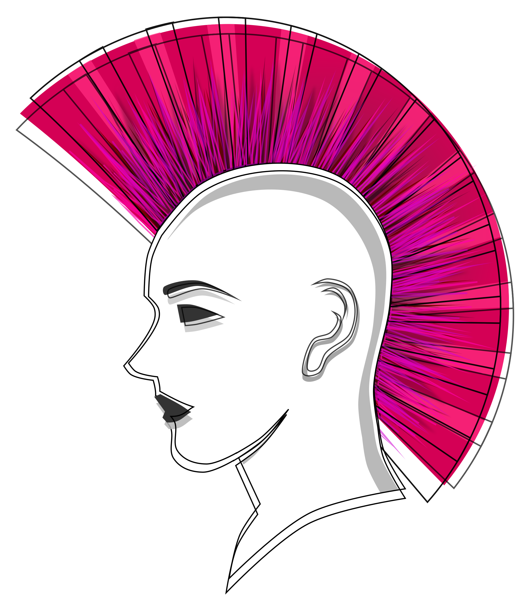 mohawk vector skeleton