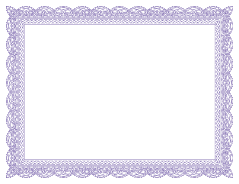 Png certificate borders. Lace formal purple border