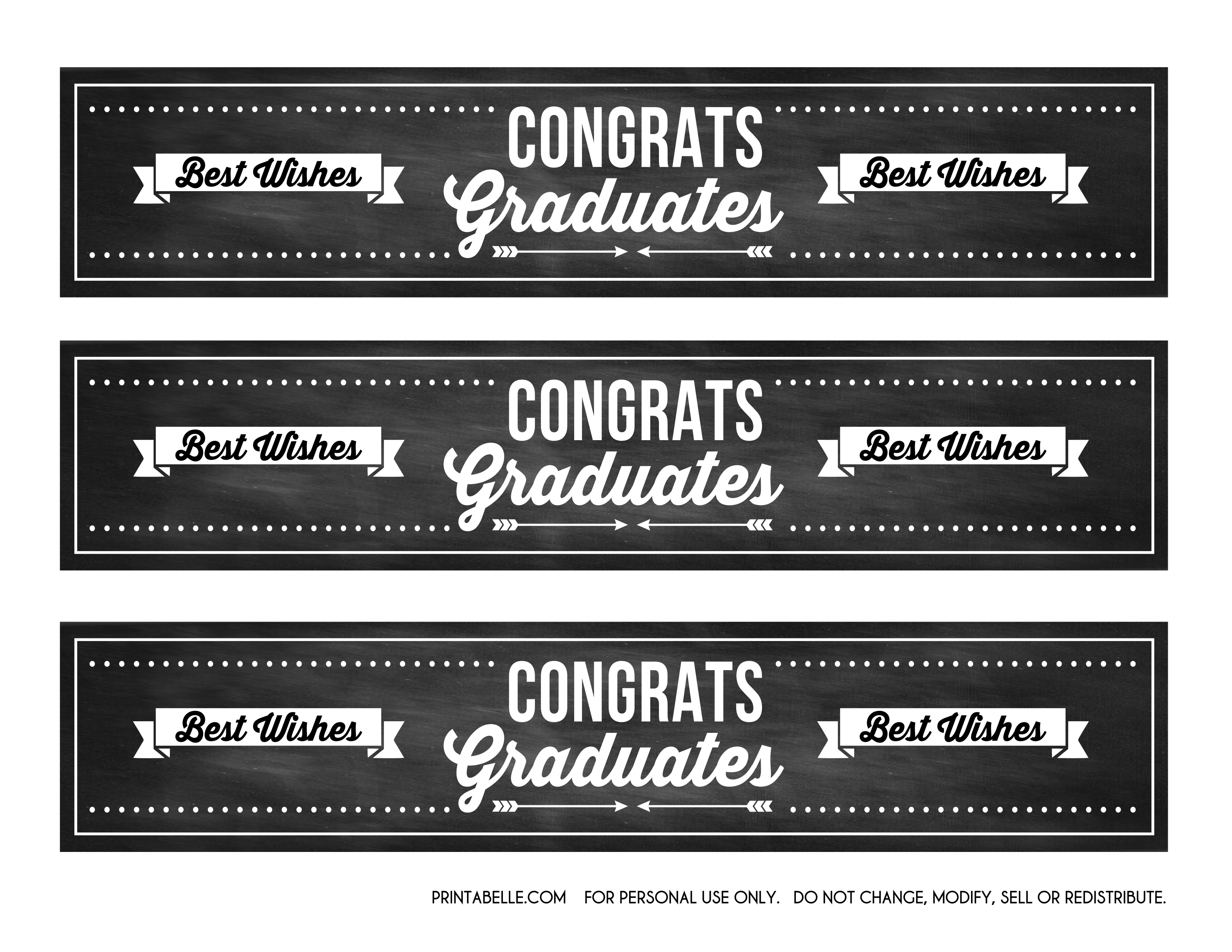 Vector chalkboard birthday template free. Graduation party printables from