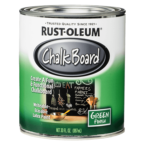 Chalkboard transparent old. Specialty brush on product