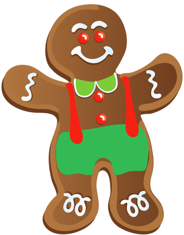 Png christmas cookies. Gingerbread man clip art