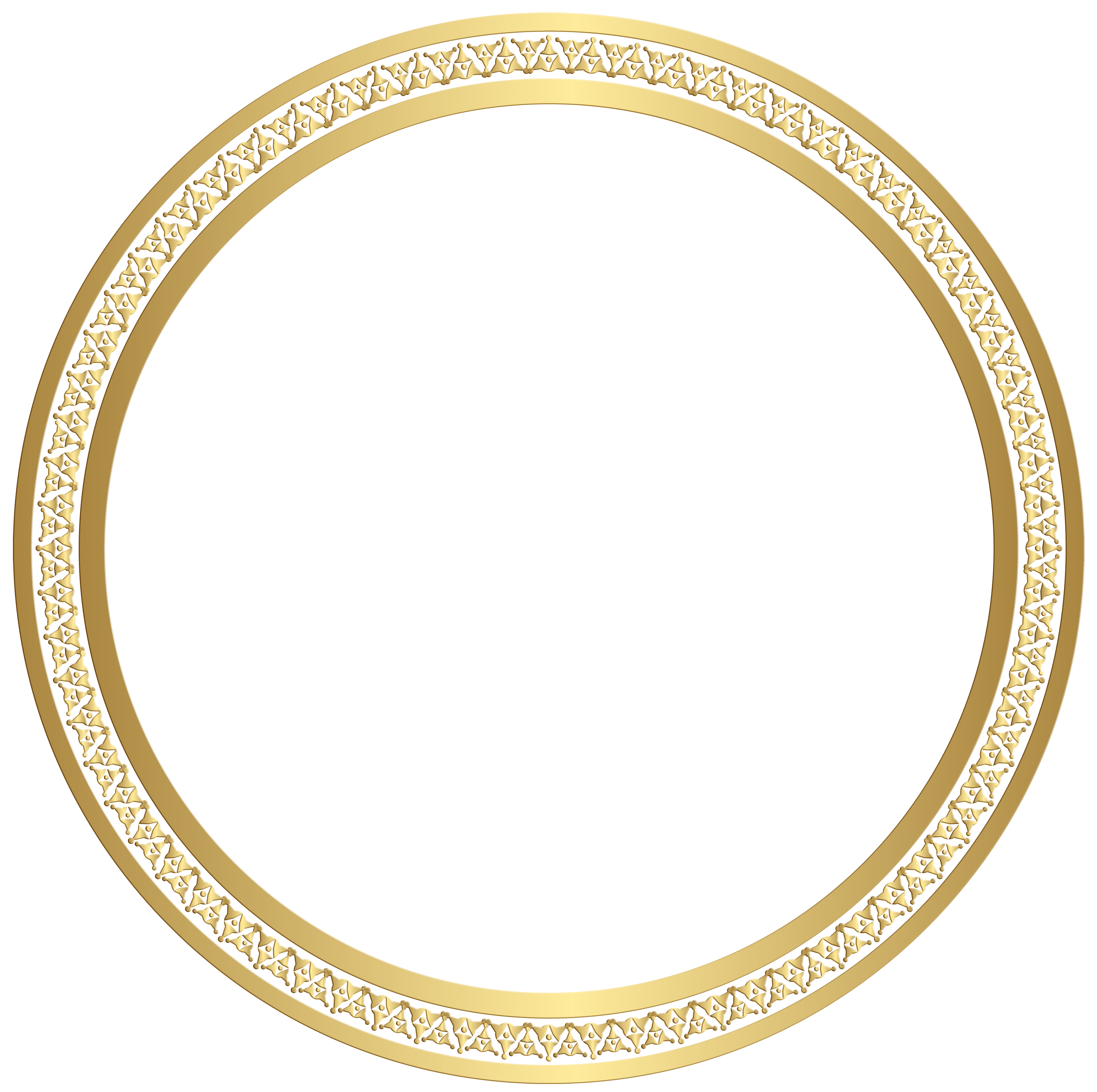 Png circle border. Round frame gold clip