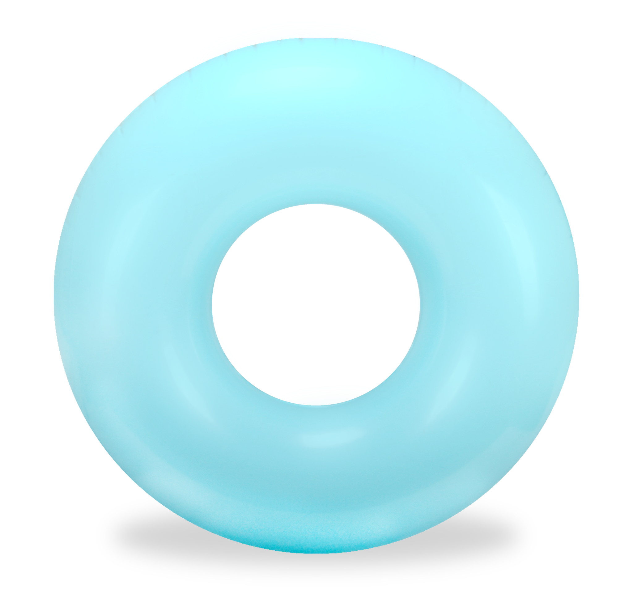 Pool transparent circle. Bright turquoise round tube