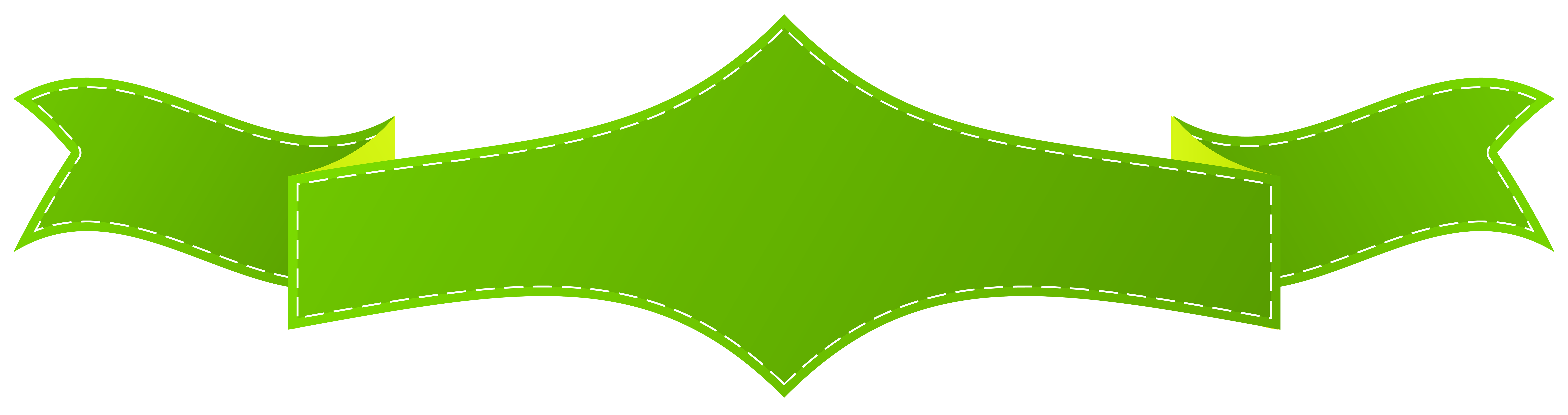 Png clear background. Green banner image with