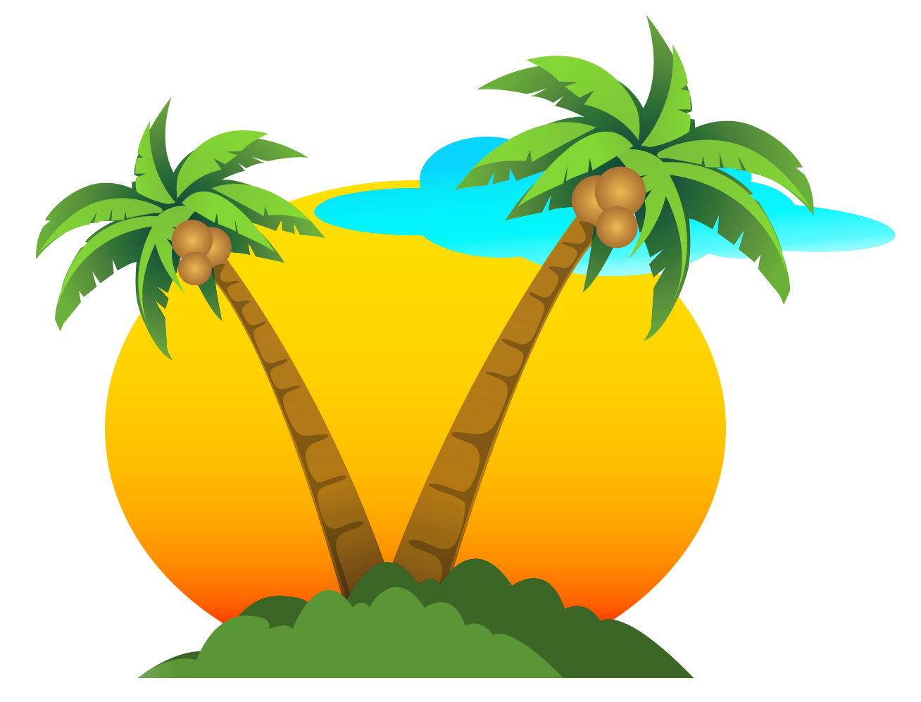 sunrise png vector
