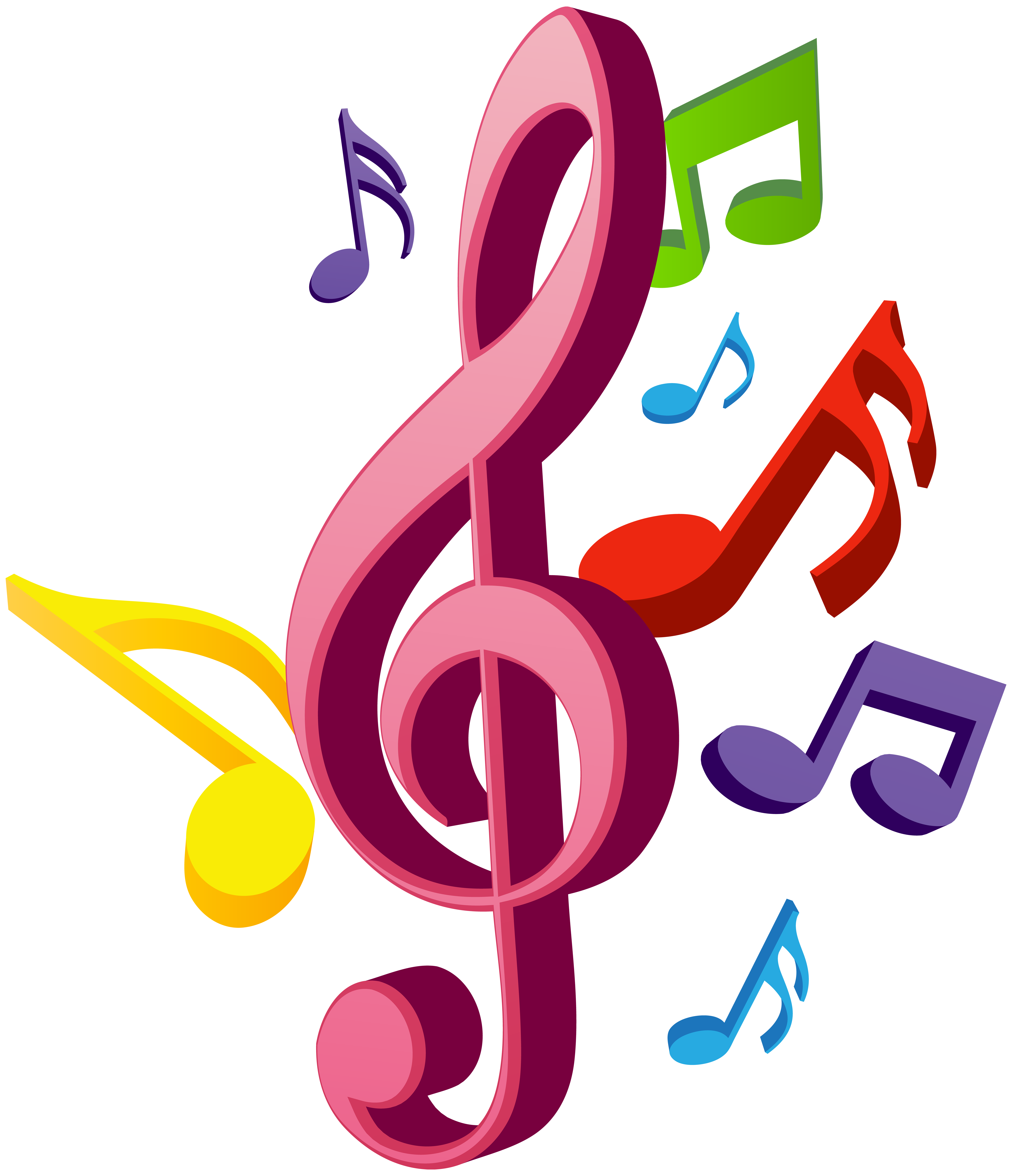 music note clipart christmas